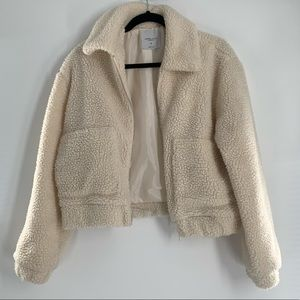 Angel Kiss Los Angeles Cream Cropped Jacket XS